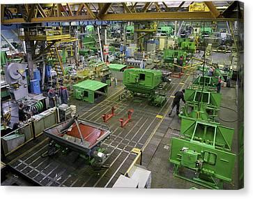 Combine Harvester Production Line Canvas Print by Ria Novosti