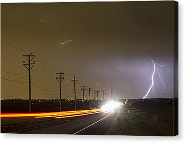 Come Into The Light Lightning Strike Canvas Print by James BO  Insogna