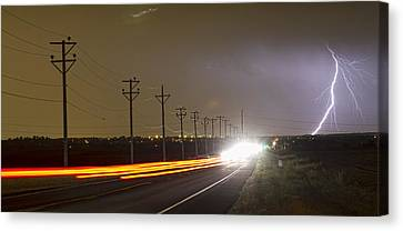 Come Into The Light Lightning Strike Panorama Canvas Print by James BO  Insogna