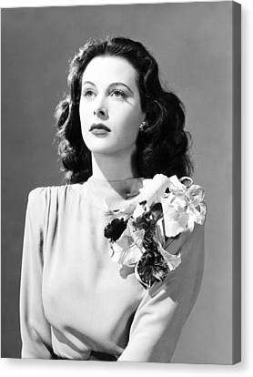 1941 Movies Canvas Print - Come Live With Me, Hedy Lamarr, 1941 by Everett