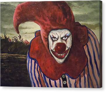 Canvas Print featuring the painting Come With Me To The Circus by James Guentner