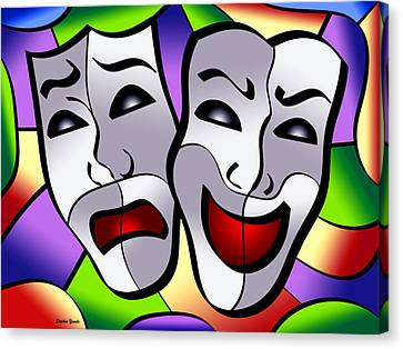 Comedy And Tragedy Canvas Print by Stephen Younts