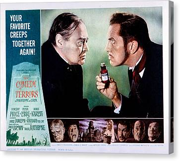 Comedy Of Terrors, Peter Lorre, Vincent Canvas Print