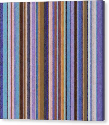 Comfortable Stripes Ll Canvas Print by Michelle Calkins