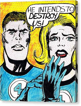 Comic Strip Canvas Print by Mel Thompson
