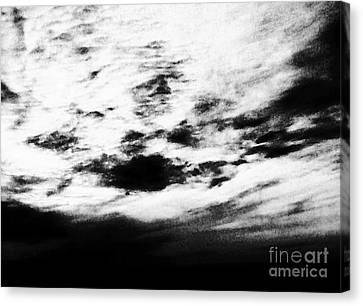 Coming In The Clouds Canvas Print