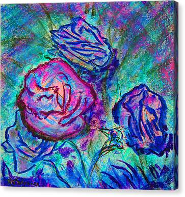 Coming Up Roses Canvas Print by Richard James Digance