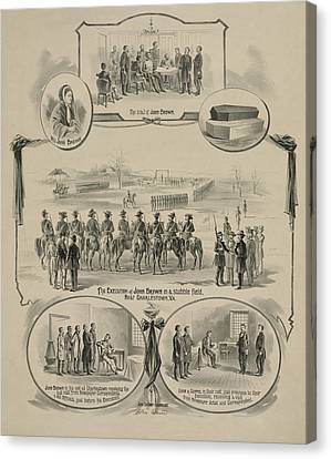 Antislavery Canvas Print - Commemorative Print Depicting The Trial by Everett