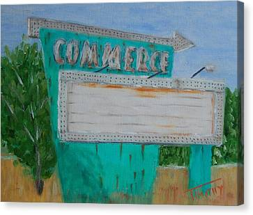 Commerce Drive In Canvas Print by Timothy Johnson