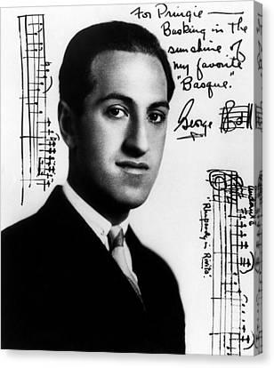 Gershwin Canvas Print - Composer George Gershwin  1898-1937 by Everett