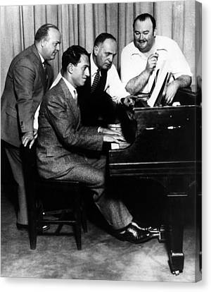 Gershwin Canvas Print - Composer George Gershwin At The Piano by Everett