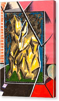Composition Eight Canvas Print by Al Goldfarb
