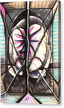 Composition Five Canvas Print by Al Goldfarb