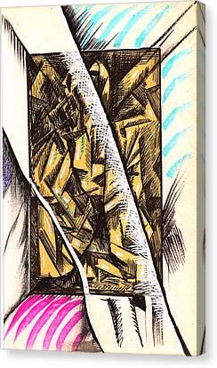 Composition Four Canvas Print by Al Goldfarb