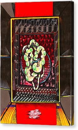 Composition Nine Canvas Print by Al Goldfarb