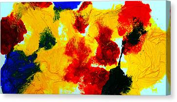Canvas Print featuring the painting Composition Of Primary Colors by Alexandra Jordankova