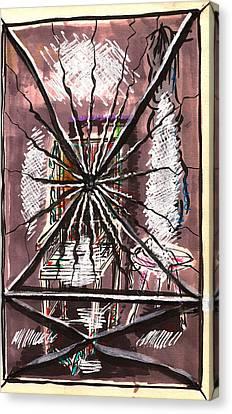 Composition Seven Canvas Print by Al Goldfarb
