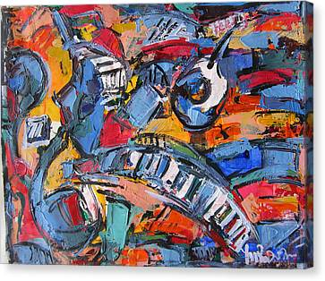 Composition With Music Canvas Print