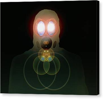 Terrorist Canvas Print - Computer Artwork Of A Figure Wearing A Gas Mask by Laguna Design