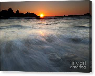 Concealed By The Tides Canvas Print by Mike  Dawson