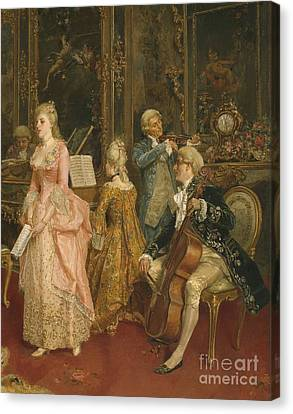 Concert At The Time Of Mozart Canvas Print
