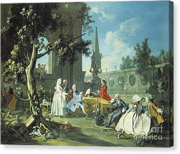 Concert In A Garden Canvas Print
