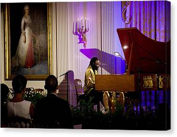 Concert Pianist Awadagin Pratt Performs Canvas Print by Everett