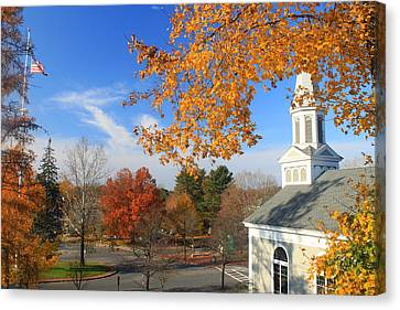 Concord Massachusetts In Autumn Canvas Print by John Burk