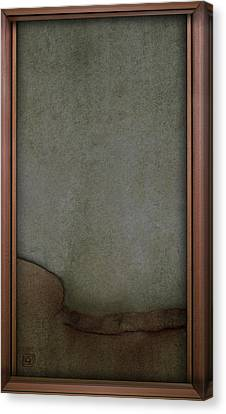 Canvas Print featuring the digital art Concrete And Copper by Jean Moore