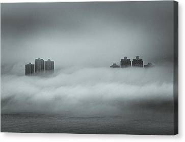 Concrete  Buildings Canvas Print by Yiu Yu Hoi
