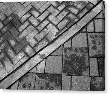 Concrete Tile - Abstract Canvas Print by Deborah  Crew-Johnson
