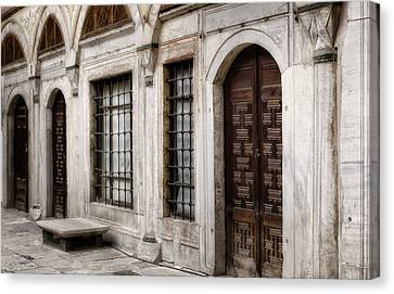 Grate Canvas Print - Concubine  Court by Joan Carroll