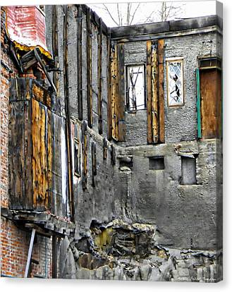 Condemned Canvas Print by Michelle Frizzell-Thompson