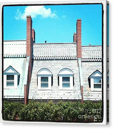 Condos In Portsmouth New Hampshire Canvas Print by Christy Bruna