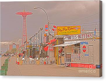 Coney Island Boardwalk Canvas Print by Mark Gilman