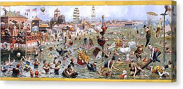 Coney Island Canvas Print by Charles Shoup