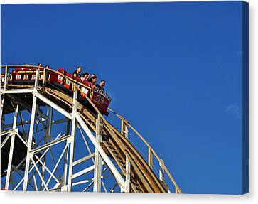 Coney Island Cyclone Canvas Print by Diane Lent
