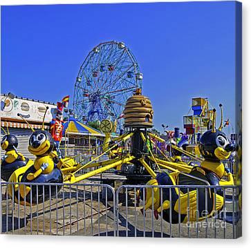 Luna Park Fun - Coney Island - New York Canvas Print by Madeline Ellis