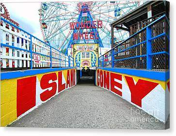 Coney Island Sign Canvas Print by Mark Gilman