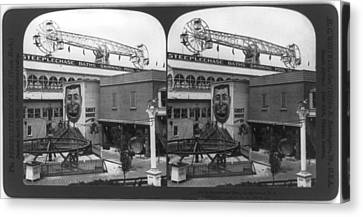Coney Island, Stereo Photograph Canvas Print