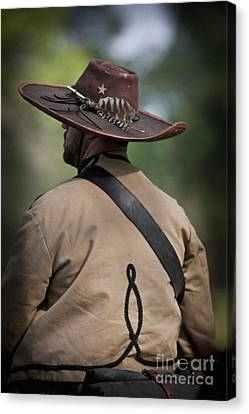 Confederate Cavalry Soldier Canvas Print by Kim Henderson