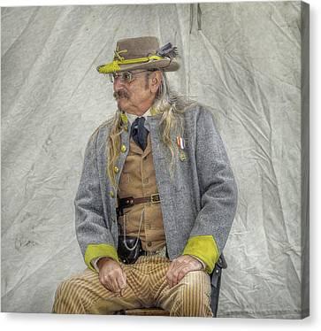 Confederate Veteran Portrait Canvas Print by Randy Steele