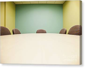 Conference Room Table And Chairs Canvas Print