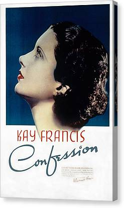 Confession, Kay Francis, 1937 Canvas Print by Everett