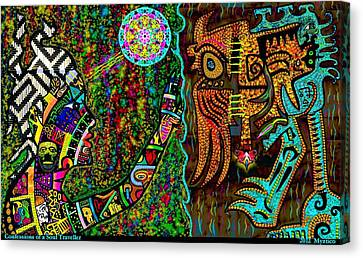 Confessions Of A Soul Traveller Canvas Print by Myztico Campo