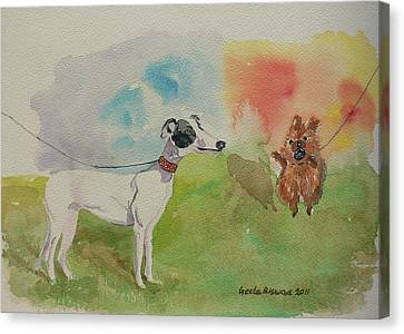 Canvas Print featuring the painting Confidence  by Geeta Biswas