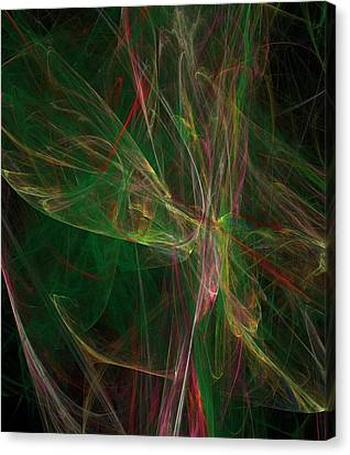 Canvas Print featuring the digital art Confusion by Ester  Rogers