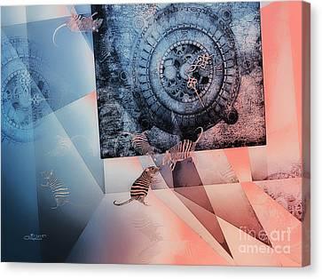 Confusion Canvas Print by Jutta Maria Pusl
