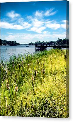 Congamond Lake Canvas Print by HD Connelly