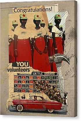 Congratulations You Volunteers Canvas Print